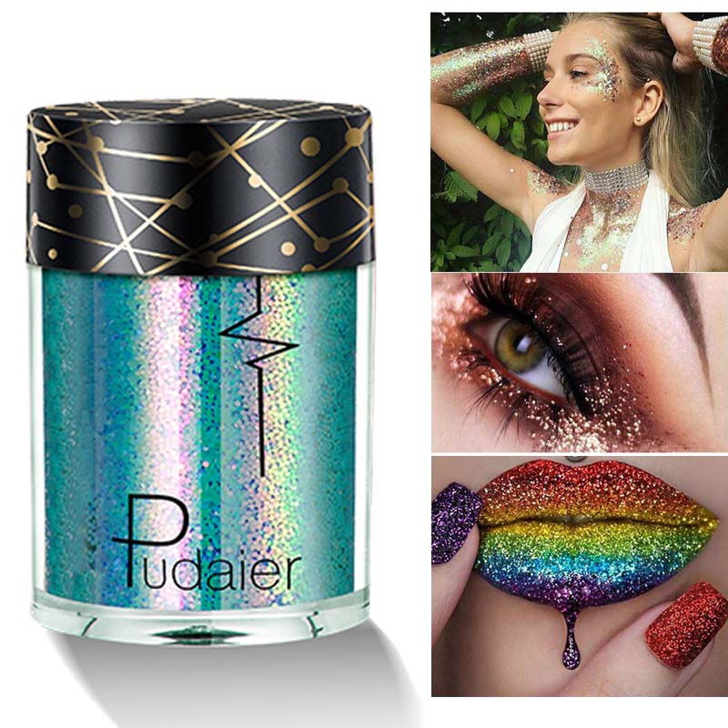Makeup Body Glitter Cosmetic Shimmer Powder For Hair Nail Lips Eyes Professional Tattoo Pigment Party Dance Festival Glitters