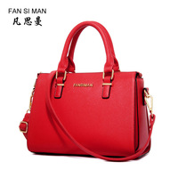 Fashion Solid Women Pillow Handbag Leather Women Top Handle Bag Tote Shoulder Bag Large Capacity
