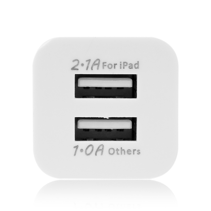 2 USB Charger 5V 2.1A EU / US Plug USB adapter Wall Mobile Phone Charger for iPhone 5 6 7 8 iPad Tablet Samsung Xiaomi Charging