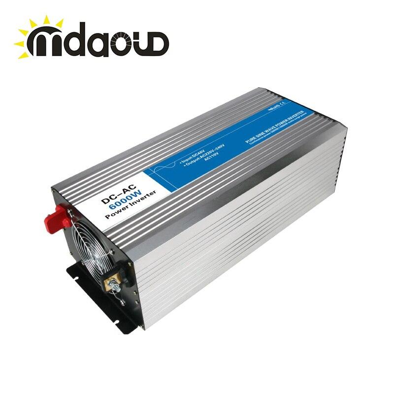 Affichage de LED hors réseau onduleur solaire 1200 watts/2.4KW 12/24/48VDC à 110/220VAC onde sinusoïdale Pure