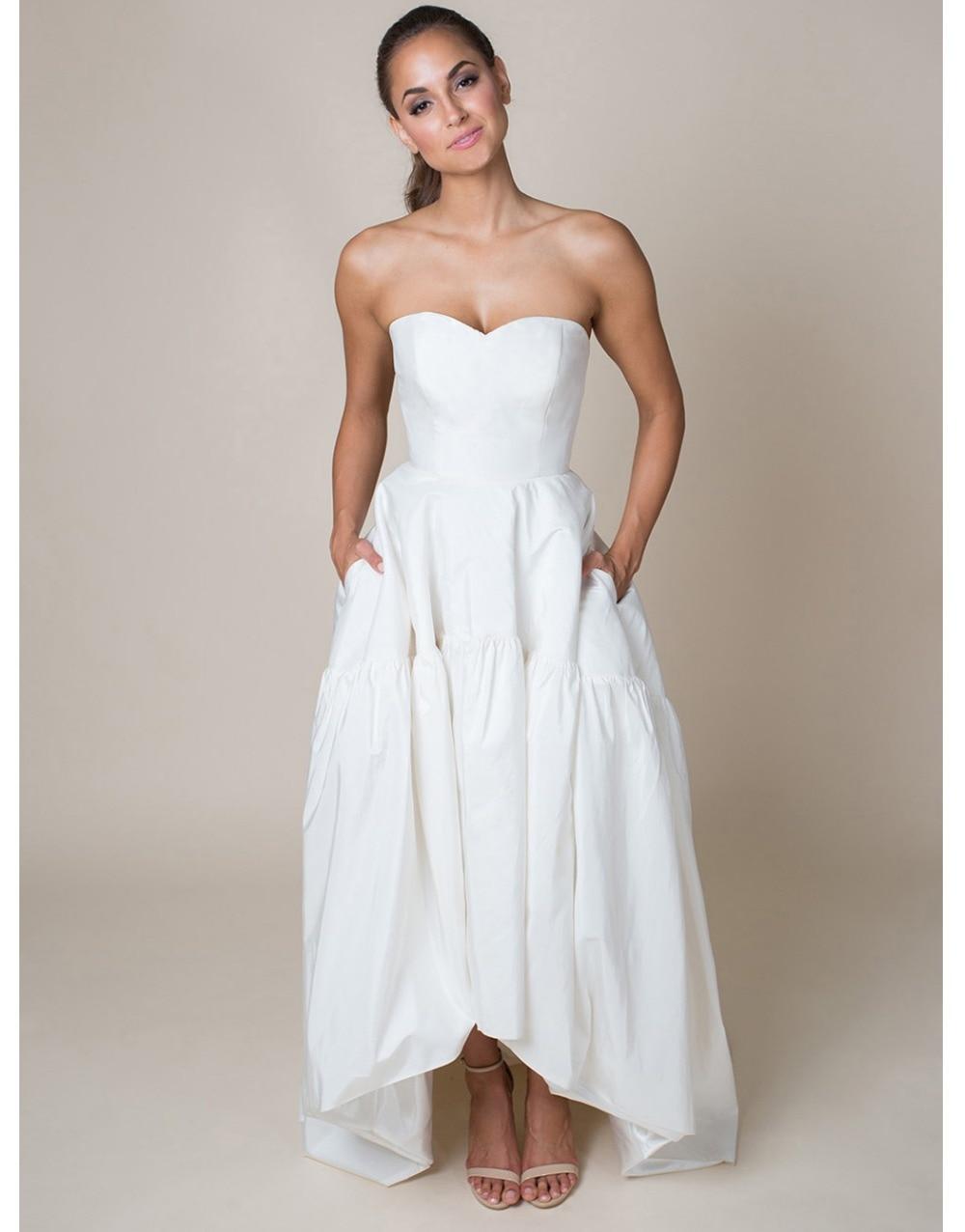 inexpensive tea length wedding dresses