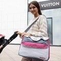 Moda Bolso de La Momia para el Bebé de Múltiples Funciones Grande Del Bolso Del Panal de Maternidad Capacidad de la Bolsa de Viaje Al Aire Libre 4 Colores