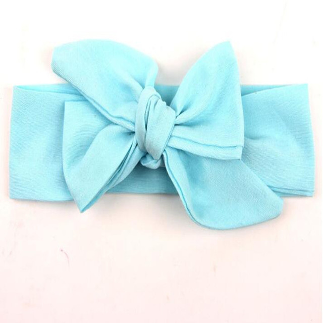 Blue Big Bow Headband DIY Pack Baby Head Wraps Newborn Photo Prop Baby  Turban Big Baby Bows Girls Hair Accessory e6d6d386144