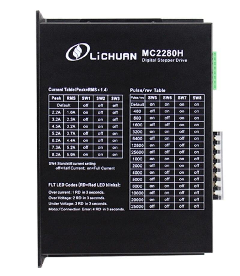 2phase NEMA42 NEMA52 hybrid stepper motor driver DSP AC150V-230V 5.9A MC2280H