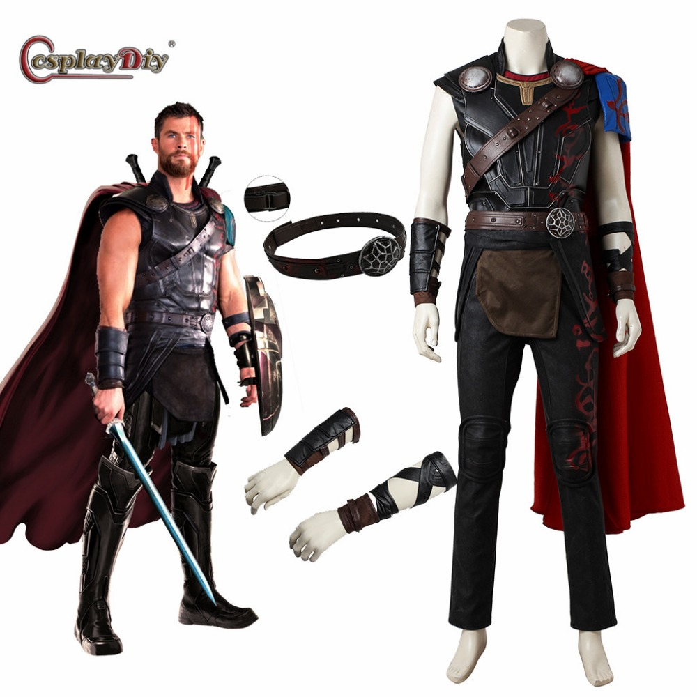 Cosplaydiy Thor: Ragnarok Odinson Cosplay Thor Costume Adult Men Halloween Costumes Hero Thor 3 Cosplay Outfit Custom made