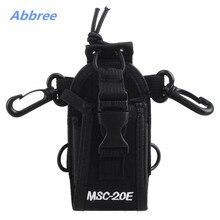 MSC-20E Portable Walkie Talkie Nylon Case Cover Handsfree Holder for Baofeng TYT Woxun Motorola Icom Radio