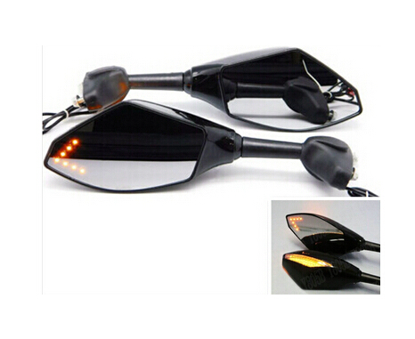 Motorcycle LED Turn Signal Mirrors For BMW S1000RR K1600 GTGTL K1300 SRGT K1200RS R1200RRTSSTGS F800SSTR GS F650GS