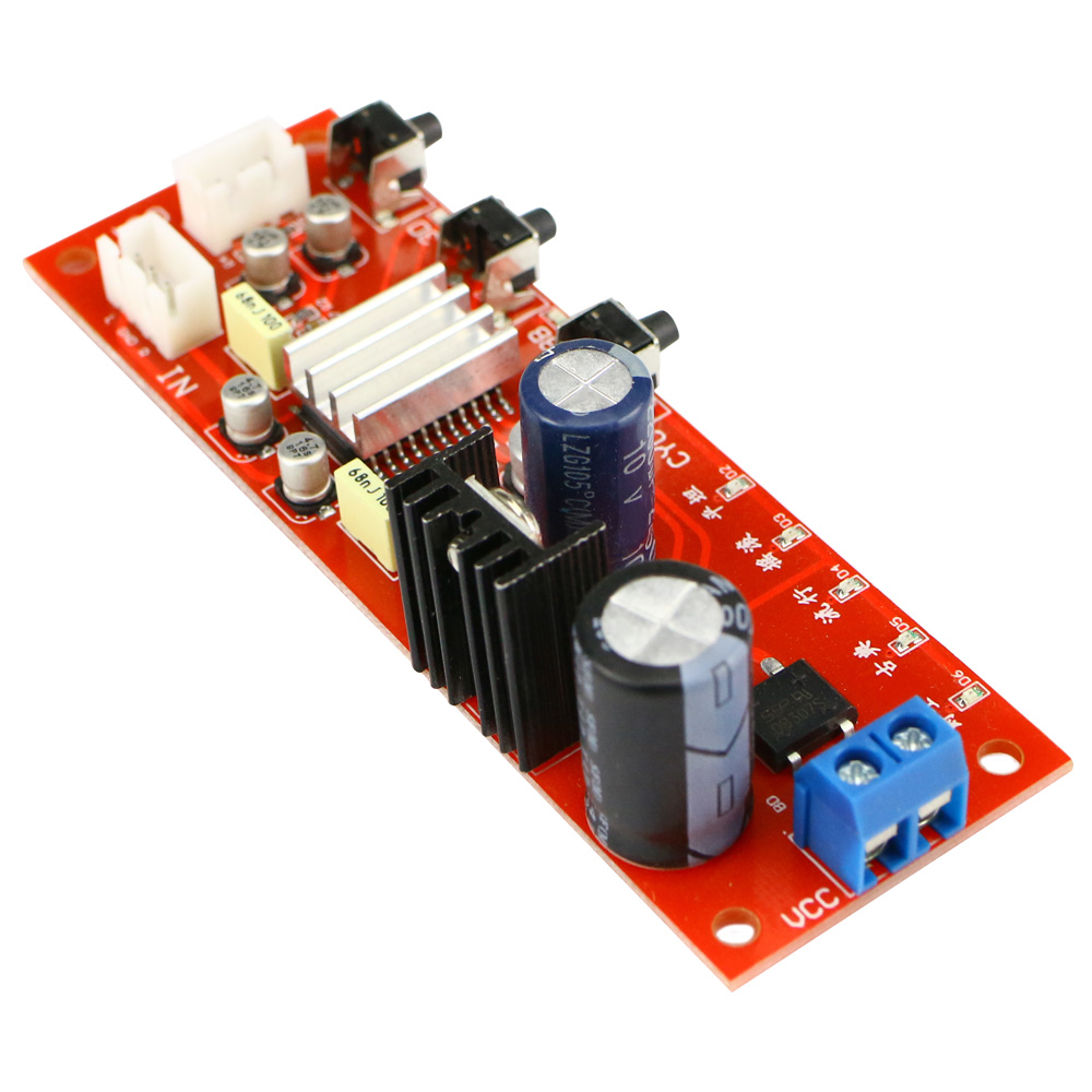 GHXAMP DJ Equalizer Tone Preamplifier Board With Enhance Bass 3D Surround  effect 2 0 Sound Processing Board 1pc