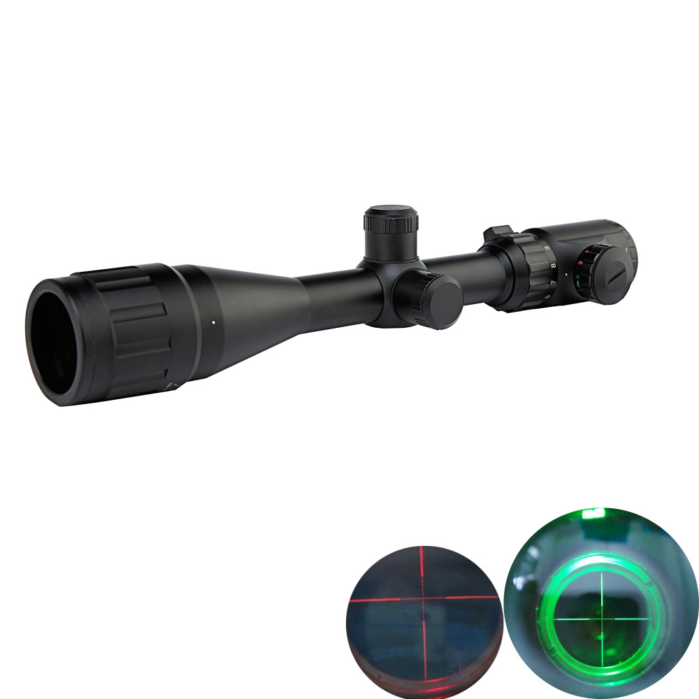 ФОТО Hunting Optics Riflescope 3-9x40AOEG Tactical Red And Green Laser Sight Riflescope Fiber Sight Scope Rifle