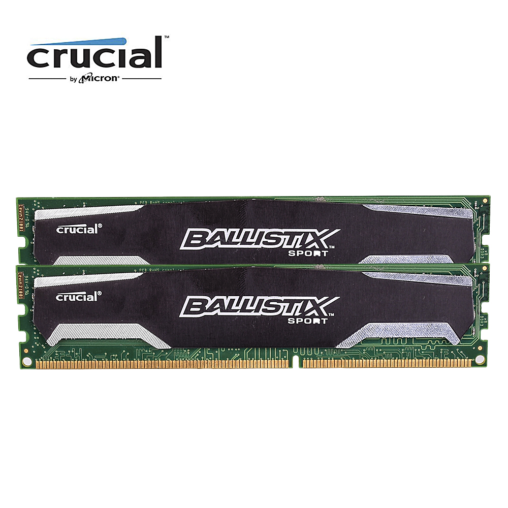 Crucial Ballistix Sport DDR3 8G 1600MHZ 1.5V CL9 240pin PC3-12800 Desktop Memory RAM DIMM цена