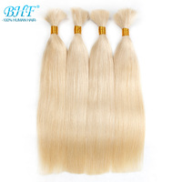 BHF Human Braiding Hair Bulk Remy Straight European Hair Bulk Blond Bulk 100% Natural Raw Hair