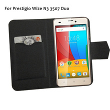 5 Colors Super! For Prestigio Wize N3 Phone Case Leather Cover,Factory Direct Fashion Luxury Full Flip Stand Phone Cases