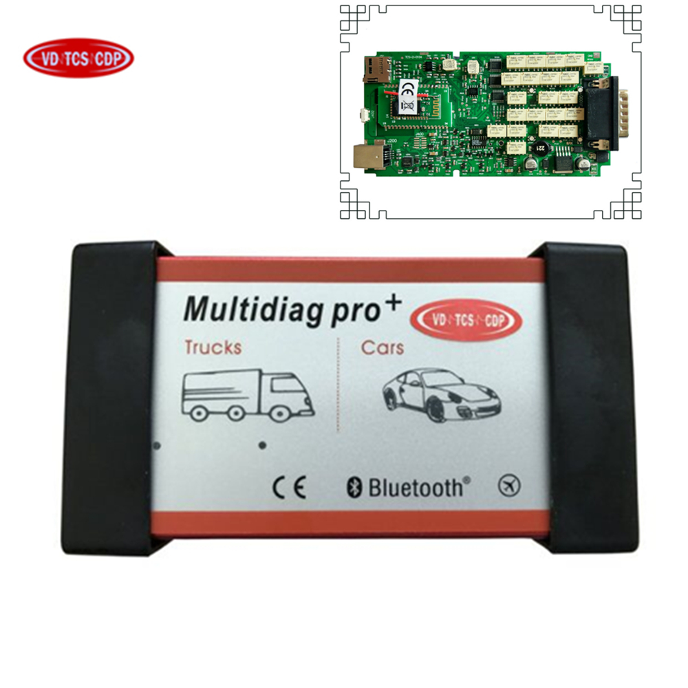 SALE! A+ Quality Single Green ne-c PCB Multidiag Pro+ with Bluetooth VD TCS CDP Plus obd2 scanner do more cars and trucks obd2 2017 newest nitroobd2 benzine cars chip tuning box nitro obd2 more power more torque for benzine cars obdii plug page 9