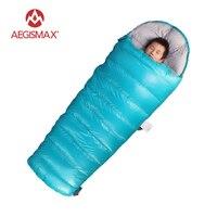Outdoor Ultralight Children Envelope Sleeping Bag 95 Goose Down 3 Season Sleeping Bags AEGISMAX Camping Down
