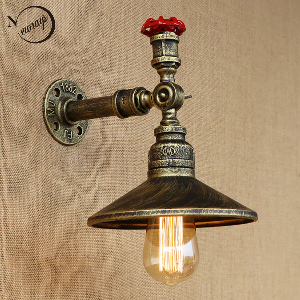loft 4 color iron rust Water pipe retro Vintage wall lamp e27 sconce lights for dining room living room bedroom restaurant bar steampunk loft 4 color iron water pipe retro wall lamp vintage e27 e26 sconce lights for living room bedroom restaurant bar