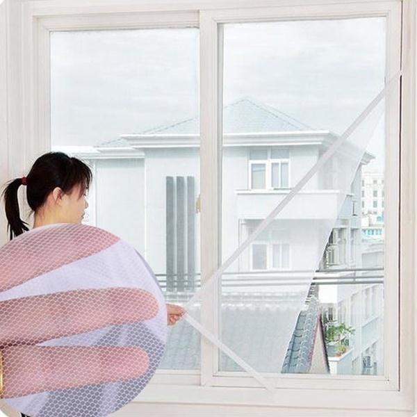 1Pc New Beauty White Large Window Screen Net Insect Anti Mosquito Bug Divider Door Netting High