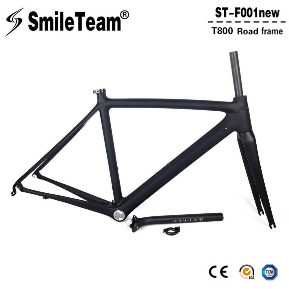 SmileTeam Full Carbon Road Bike Frame China Factory Cheap Carbon Bicycle Frame DI2&Machinery Racing Bicycle Frameset 50/53/55cm 2018 carbon fiber road bike frames black matt clear coat china racing carbon bicycle frame cycling frameset bsa bb68