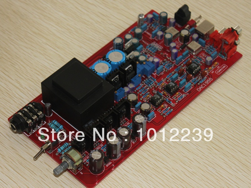 Assembled Fiber Coaxial USB DAC decoding amp board/DIY amp board dolby surround sound audio processor usb decoding dac pre amp usb sound card