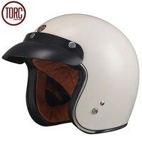 TORC Cruiser Motorcycle Helmet Harley 3 4 Open Face Vintage Helmet T501 Moto Casque Casco Motocicleta