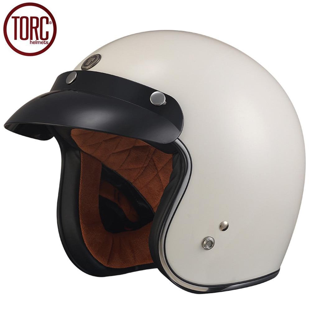TORC Cruiser Motorcycle Helmet Harley 3/4 Open Face Vintage Helmet T501 Moto Casque Casco motocicleta Capacete DOT Helmets brand new vintage helmet torc retro motorcycle helmet for chopper bikes for harley bikes motorcycle helmet