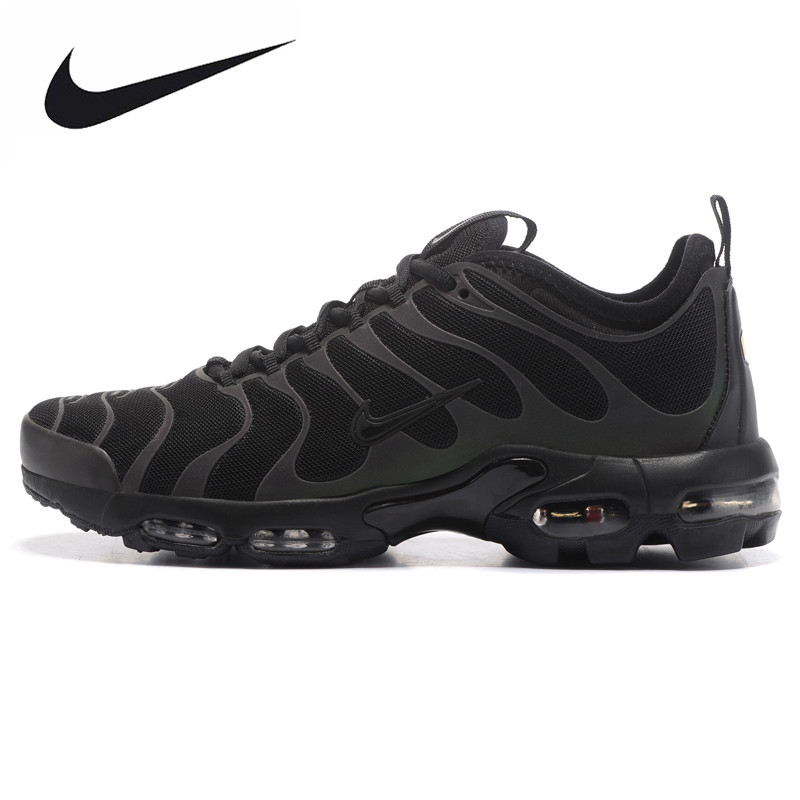 NIKE AIR MAX PLUS TN ULTRA Men's Running Shoes, Black, Breathable Non-slip Wear-resistant Shock-absorbing 898015 002 long jump professional breathable spike running shoe male slip resistant wear resistant sport shoes men female high elastic plus