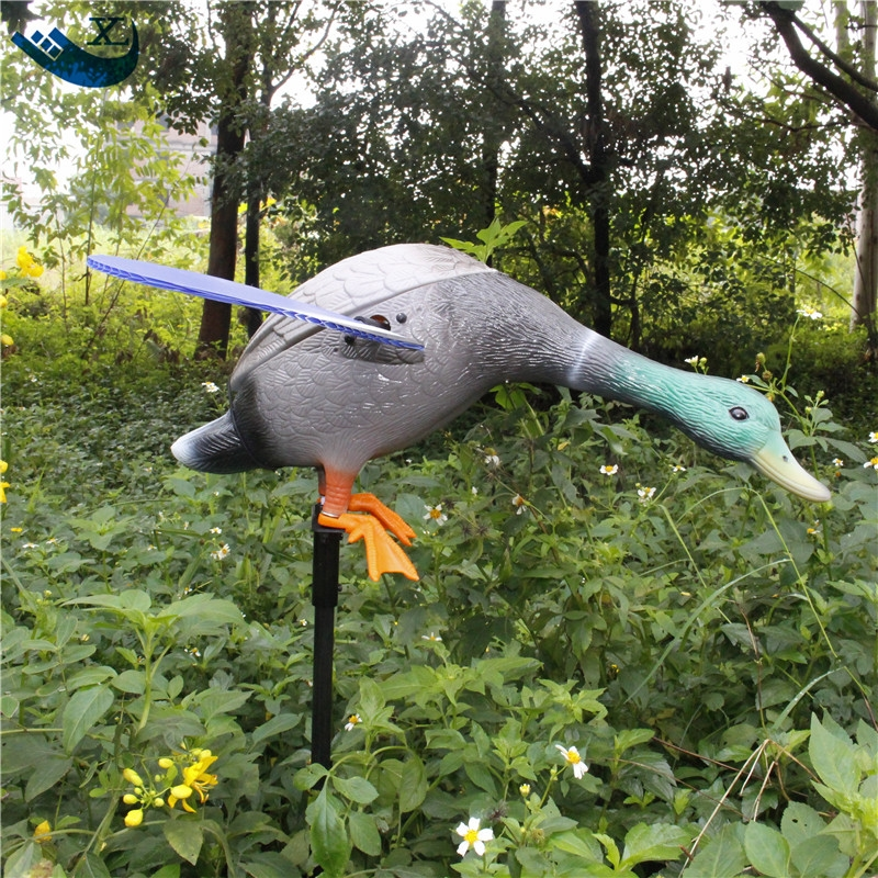 Xilei Wholesale Quality Pe Duck-Decoy Greenhead Decoy Dc 6V Remote Control Duck-Decoy With Spinning Magnet Wings 2017 xilei ducks decoy electric flying duck decoy duck with remote control with spinning wings