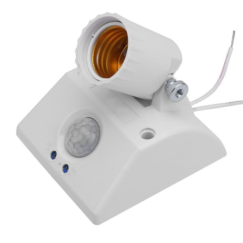 Infrared IR Sensor Standard AC 100-265V E27 Lamp Base LED Bulb Base Auto Wall Light Holder Socket PIR Motion Detector foppapedretti base auto con staffa 9700372300