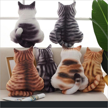 Creative Cute Back View Cats Plush Toys Stuffed Animal Doll Toy Soft Pillow Cushion Children Gift