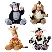Baby Christmas Halloween Cosplay Costume Cows dogs orangutans giraffes Jumpsuit Boys Girls Clothes Set Kids Outfits