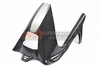 Rear Hugger Fender Mudguard Cover With Chain Guard Covers For BMW S1000RR 2009 2014 Full Carbon Fiber 100% Twil