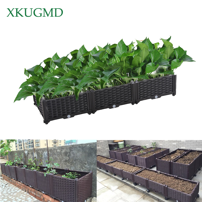 Balcony Planting Box Gardening Vegetable Flower Planting Artifact Indoor Green Potted Environmental Protection Pollution-free