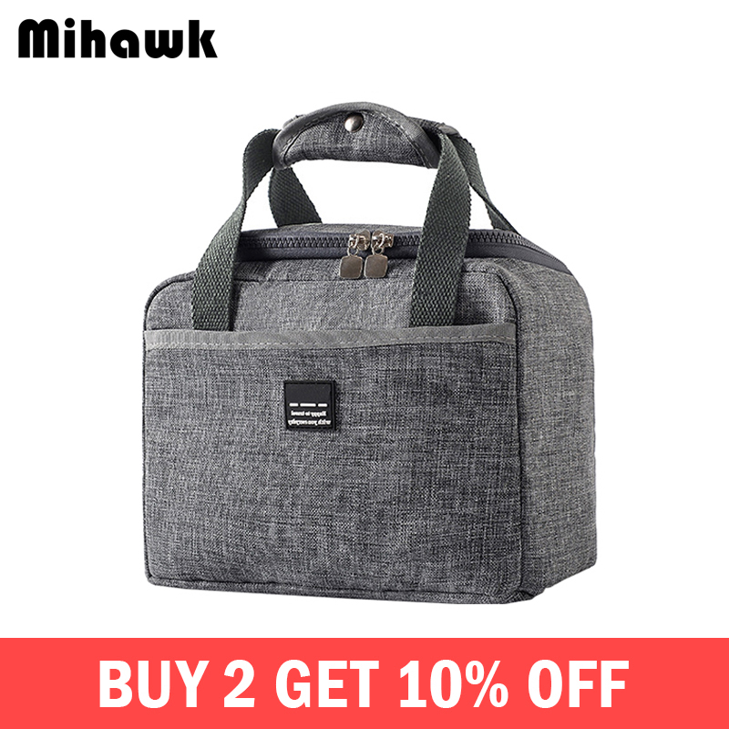 e132a8468184 Mihawk Waterproof Insulated Lunch Bags Oxford Travel Necessary Picnic Pouch  Unisex Thermal Dinner ...