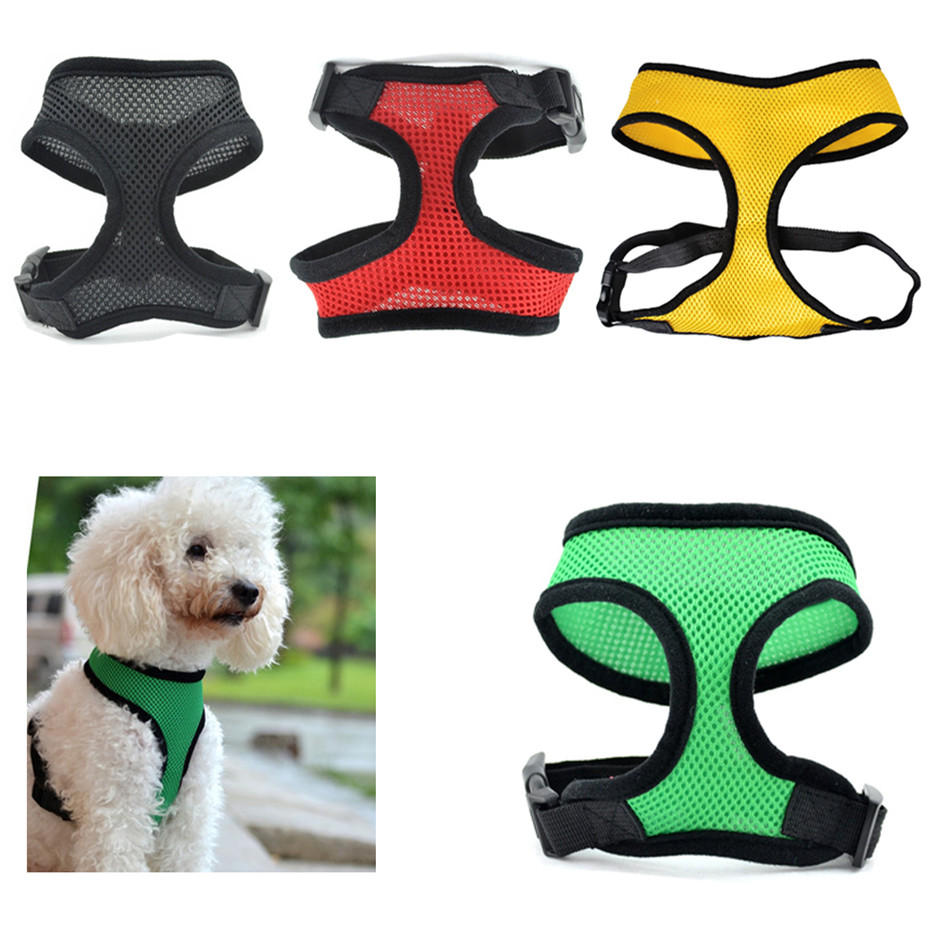 Adjustable Dog Harness Pet Mesh Strap Vest Collar for Small Medium Breed Dog leads Puppy Comfort Harness Clothes for Dog 35 Собака