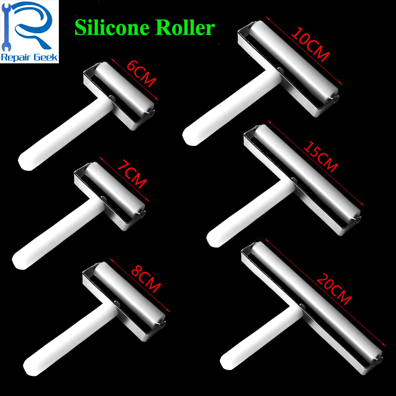 6 7 8 10 15 20cm High Quality Anti-static Silicone Roller For iPhone Samsung Phone LCD Screen Film Refurbish Repair Tool image