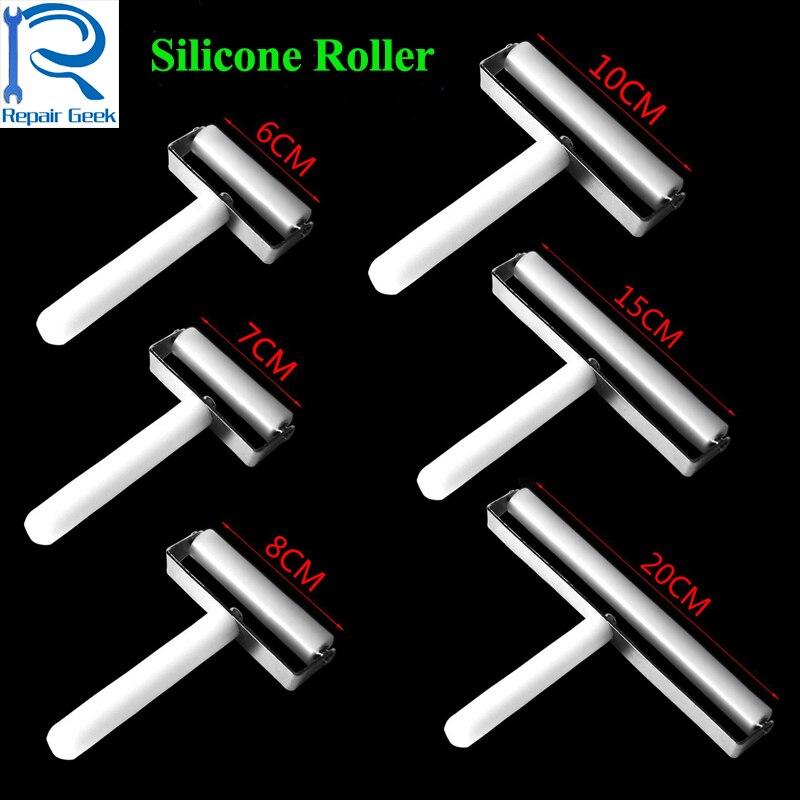 6 7 8 10 15 20cm High Quality Anti-static Silicone <font><b>Roller</b></font> For iPhone Samsung <font><b>Phone</b></font> LCD Screen Film Refurbish Repair Tool