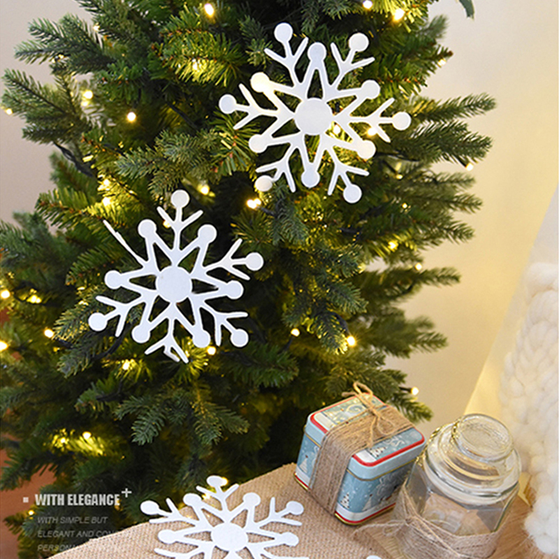 sea team plastic christmas glitter snowflake ornaments christmas tree decorations 4 inch set of 36 gold - Simple But Elegant Christmas Tree Decorations
