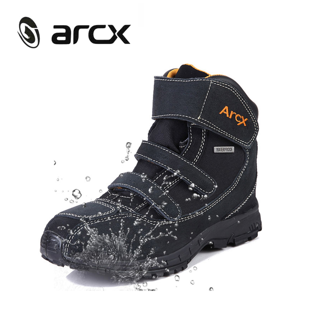 ARCX Motorcycle Riding Boots Genuine Cow Suede Leather Waterproof Street Moto Motorbike Chopper Cruiser Touring Riding
