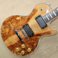 LP Electric Guitar Spalted Maple Top Rosewood Fingerboard China Custom Shop Free Shipping