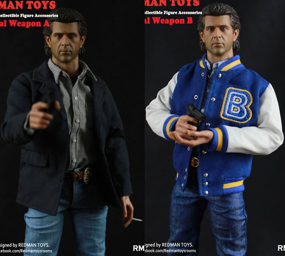 1:6 male Figure clothes Accessory Lethal Weapon Mel Columcille Gerard Gibson suit for 12