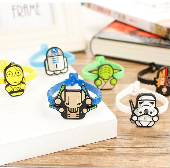 Lot 50Pcs cartoon Star Wars rubber hand bands silicone bracelets with WW04