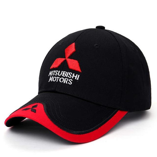 21736009327 Wholesale 2018 New Fashion 3D Mitsubishi Hat Cap Car logo MOTO GP Racing F1 Baseball  Cap