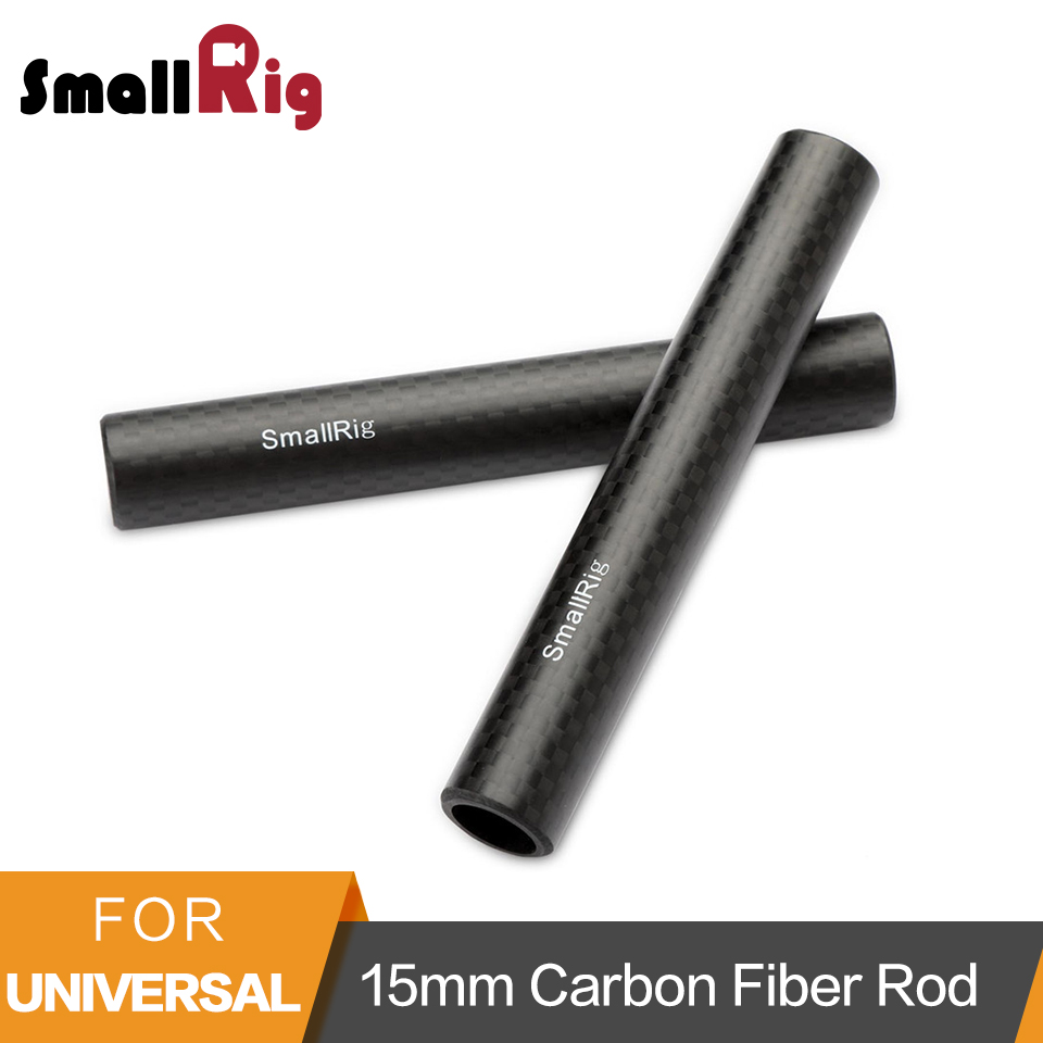 SmallRig 15mm Carbon Fiber Rod 4 Long for 15mm carbon rod Support System (non-thread) 2pcs/set Rod 15mm - 1871SmallRig 15mm Carbon Fiber Rod 4 Long for 15mm carbon rod Support System (non-thread) 2pcs/set Rod 15mm - 1871