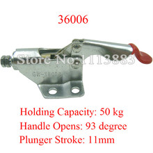 5PCS Pull Push Type Toggle Clamp 36006 Holding Capacity 50KG 110LBS Plunger Stroke 11mm 136kg 300 lbs holding capacity 32mm plunger stroke push pull type toggle clamp
