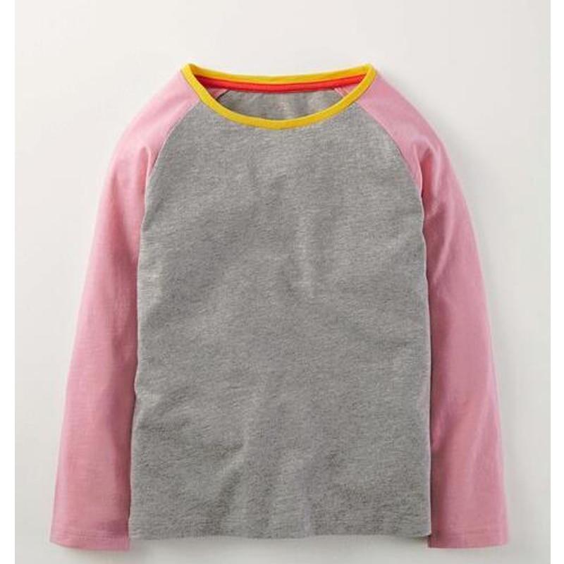 pink and grey raglan T-shirts baseball  shirts girls kids tshirts pink raglan tees