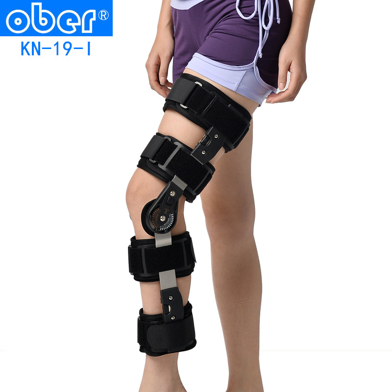Ober adjustable knee orthosis fixation fracture of lower limbs knee rehabilitation after knee