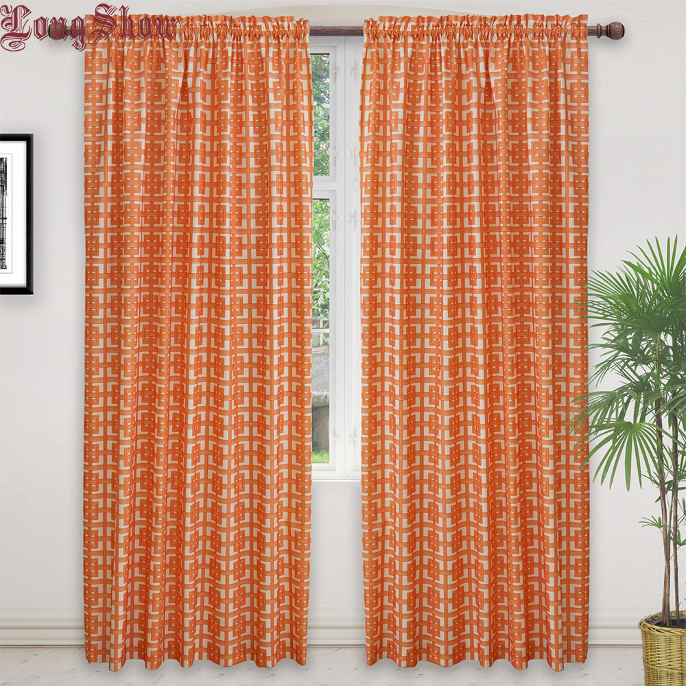 check MRP of orange curtains in living room