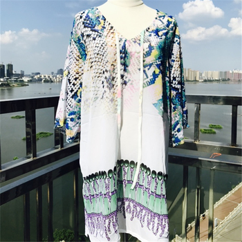 Caftan Swimsuit Cover-Up Print Tunic 2