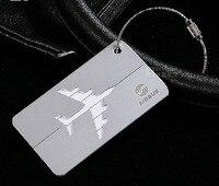 Airbus/Boeeing Metall gepäck tag Aluminium legierung silber air flugzeug reise tags identität karte lock spezielle persönlichkeit kühlen