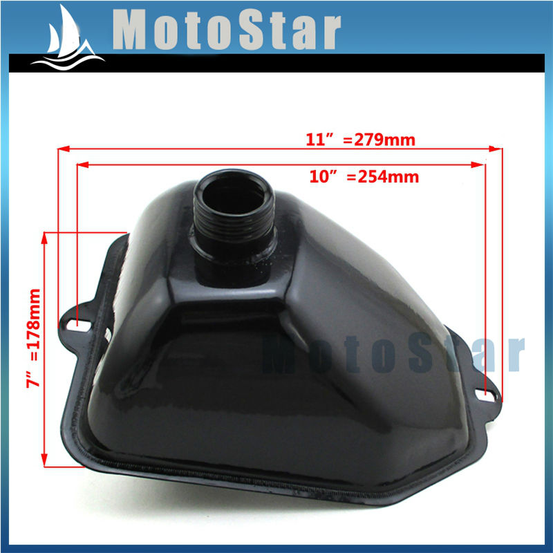 metal gas fuel tank for 50cc 70cc 90cc 110cc 125cc chinese. Black Bedroom Furniture Sets. Home Design Ideas