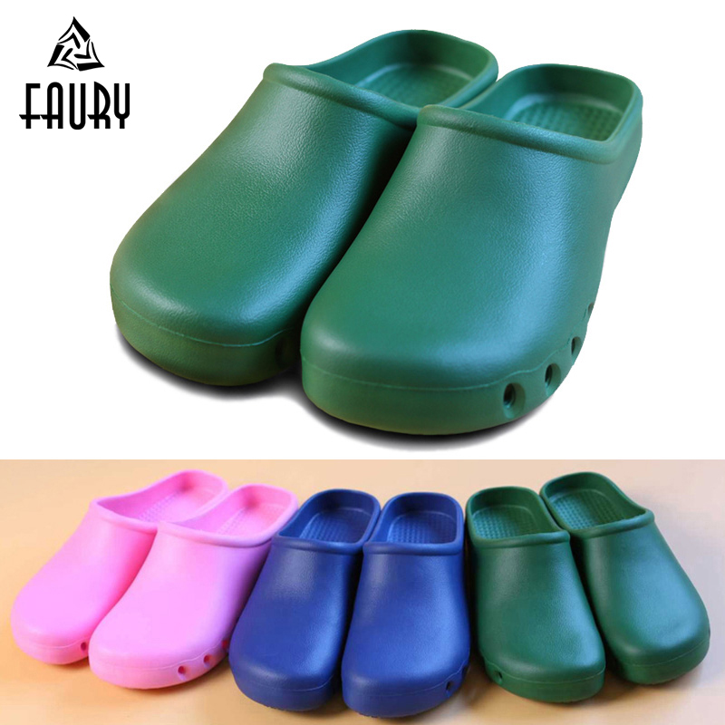 Men Women Operating Room Protective Shoes Hospital Medical Doctor Nurse Surgical Work Shoes Summer Beach Flat Slippers Sandals
